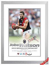 Jobe Watson Brownlow Medallist 2012 Celebration Photo framed and Limited