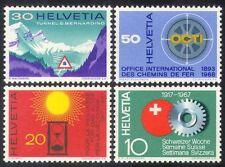 Svizzera 1967 ferrovia/strada/Tunnel // trasporto/benessere/Industria 4 V Set (n38686)