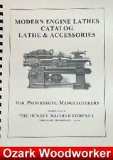 Hendey Lathe & Accessories Catalog Manual 74 pages 0358