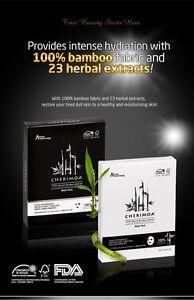CHERIMOA, high quality organic nature moisturized BAMBOO FACIAL MASK PACK 10pcs.