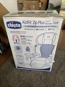 Chicco KidFit Zip Plus Belt Positioning Booster Car Seat Taurus Black Grey