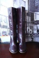 Dr. Martens - Vanna Plum violet Leather Knee-high Boots US 9 UK 7 EU 41