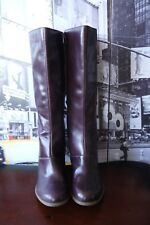 Dr. Martens - Vanna Plum violet Leather Knee-high Boots US 9 UK 7 EU 41