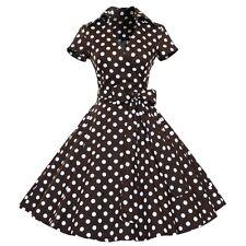 Women Polka Dot Swing 1950s Retro Housewife Pinup Vintage Rockabilly Party Dress