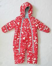 Baby Boden Girls Fleece-Lined Pink Floral Snowsuit 6-12 Months