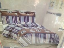 Full/Queen SZ Bedspread/Quilt w Matching Shams Sports Reversible NWT for Boy