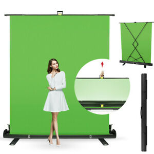 Collapsible Studio Chroma Key Green Screen Pull Up Background Backdrop 5x6.5 ft