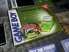 Target Exclusive Nintendo Game Boy Advance SP Lime Green w/ Box GBA