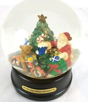 "Harley Davidson ""The Night Before  Christmas""Musical Snow Globe Bear Riding bike"