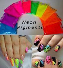 Set Neon Color Pigments Powder for Nail Art