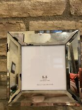Pottery Barn ANTIQUE MIRROR PICTURE Frame 5x5 Photo Home Decor New In Box