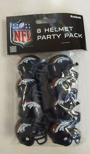 Denver Broncos Helmet Party Pack - Cake Toppers Favors - NFL - Free Shipping