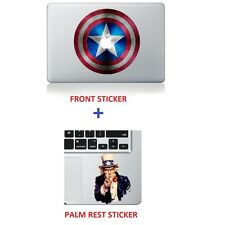 "Captain America Shield and Uncle Sam Sticker Macbook Air/Pro/Retina 13""15""17"""
