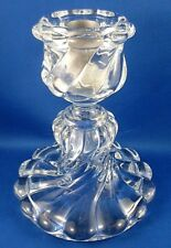 Rare Retro 1980's BACCARAT FRANCE Heavy Crystal BAMBOUS Candle Holder Display VG