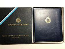 1977 RSM San Marino Folder Album Libro Francobolli + Box
