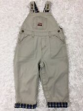 Izod Baby Toddler Boy Overalls SIZE 24 Months Khaki Embroidered front pocket