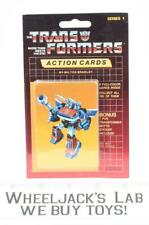 Smokescreen Sealed Pack Card #8 of Transformers Trading Action Cards 1985 G1