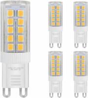 Lot de 5 ampoules LED G9 5 W Blanc chaud équivalent 40 W pour capsule halogène 2