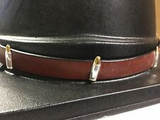 """Western Leather Hat Band Cowboy Hats- Brown- 2 TONE BULLET  -3/4"""" WIDE NEW"""