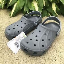 NEW Crocs Ralen Clog K Youth GS Beach Shoes Boys 15908-025 Gray Size 2