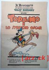 TOPOLINO supplemento IL MESSAGGERO Topolino e lo struzzo Oscar 23/9/89