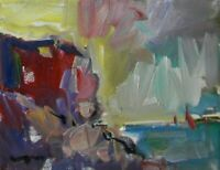 "JOSE TRUJILLO - OIL PAINTING 8X10"" Impressionism STUDY CLIFF ORIGINAL CANVAS 001"