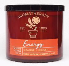 1 Bath Body Works Aromatherapy ENERGY ORANGE GINGER Large 3-Wick Candle 14.5 oz