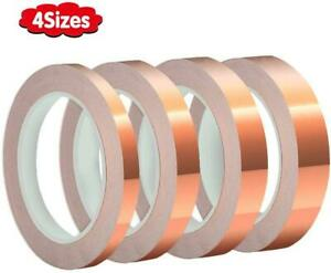 4 Sizes Copper Foil Tape,Conductive,Copper Tape Single-Sided Adhesive for EMI Sh