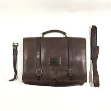 Mens Womens Boy London Brown Leather Distressed Messenger Briefcase Bag Rare!