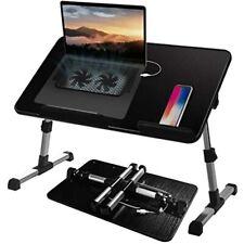 Adjustable Lap Desk With Cooling Fan Proglobe Lapdesk Fans Laptop Stand Bed Tv