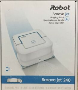Brand New iRobot Braava Jet 240 Robot Mop - White