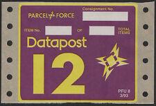 GB 1993 Datapost 12 (Parcel Force) unused labels type PFU8.