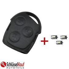 FORD Autoschlüssel Schlüssel Gehäuse Fiesta Focus Fusion Ka Mondeo + 3x TASTER