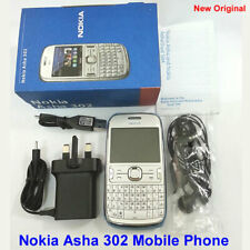 100% New Genuine Original Nokia Asha 302 GSM Unlocked Mobile Phone White