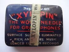 "C1930S VINTAGE SCARCE ""XYLOPIN"" THE WOOD NEEDLE FOR GRAMOPHONES NEEDLE TIN"
