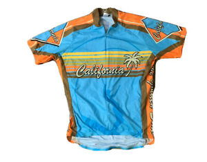 Canari Men's California Golden State Short Sleeve Cycling Shirt Jersey Size M