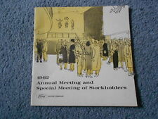 1962 FORD ANNUAL and SPECIAL MEETING of STOCKHOLDERS REPORT ORIGINAL FINANCIAL