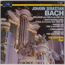 BACH: Fugues, Toccata Organ KOOPMAN Novalis Digital VINYL LP NM Superb