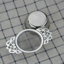 Tea Strainer Stainless Steel Sieve Infuser Empress Traditional Style Drip Bowl