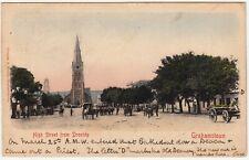 CGH: Postcard, High St from Drostdy, Grahamstown: Grahamstown-Geneva, 25 Mr 1904