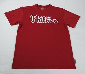 Majestic Mens Cool Base Phillies Number 8 T-Shirt Sz L