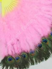 Feather Fan Peacock deluxe Candy pink per Each