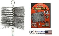 IMPERIAL BR0185 8-In X 8-In Square Durable Steel Wire Chimney Brush - SHIPS FREE