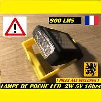 LAMPE DE POCHE LAMPE TORCHE LED PL-1 5V 2W 800Lm 2 Modes 20xSMD+3 6000k 20m PILE