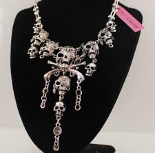 Retro Jewelry Betsey Johnson Pendant Multi-layer Shantou Silver chain necklaces