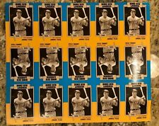 JIMMIE FOXX - 1986 Big League Chew HOME RUN LEGENDS UNCUT SHEET ATHLETICS
