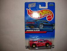 2000 Hot Wheels Jaguar XJ220 Col. #160 Red Mainline Blue/White Card FREE SHIP