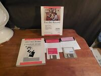 RETRO FOR THE RECORD FAMILY ORGANIZER IBM W/ MANUAL BOX & DISKS WORLD PRESS