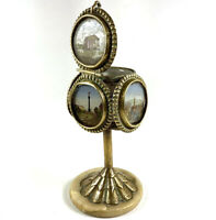 Antique French Souvenir of Paris Grand Tour, 5 Views, Inkwell or Candle Holder