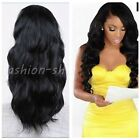 Women's Fashion Black Cosplay Long Wave Curly Heat Resistant Hair Full Wigs